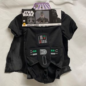 Disney Star Wars Pet Dog Darth Vader Costume Size M for Poodle and Papillon Size